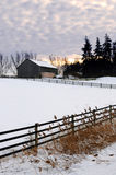Rural winter landscape Royalty Free Stock Image