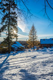 Rural winter landscape. Royalty Free Stock Photo