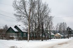 Rural winter landscape in the Republic of Karelia Stock Photography