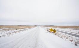 Rural winter landscape Stock Photo