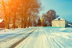 Rural winter landscape Stock Image