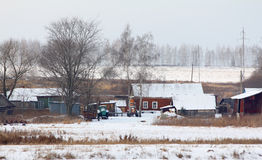 Rural winter landscape Stock Photography