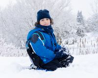 Rural Winter Portrait Royalty Free Stock Photo