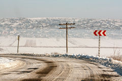 Rural Winter road. Stock Photography