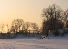 Rural Winter Scene Royalty Free Stock Photo