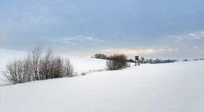 Rural winter scenery in Hohenlohe Stock Images