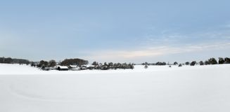 Rural winter scenery in Southern Germany Stock Photos