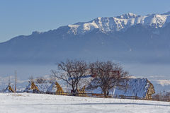 Rural winter scenery Stock Photography
