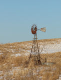Rural Winter Windmill Royalty Free Stock Photography