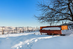 Rural wintry view. Stock Photography