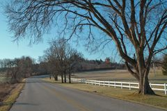 Rural Wisconsin in Late Fall Stock Photography
