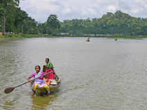 Rural Women boat Race Stock Photo
