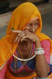 Rural women in traditional dress, Rajasthan, India Royalty Free Stock Images