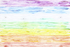 Rural wooden background colored like a rainbow Royalty Free Stock Image