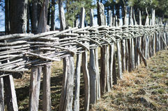 Rural wooden fence Royalty Free Stock Photos