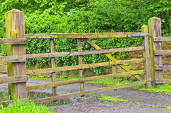 Rural Wooden Gate Stock Images