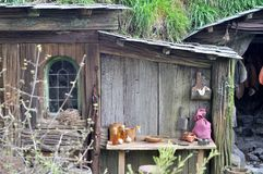 Rural wooden house. Rural countryside wooden fairy tale house Royalty Free Stock Photos