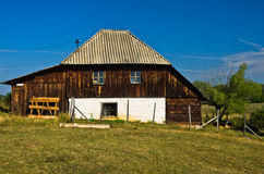 Rural wooden house at Pešter plateau Stock Image