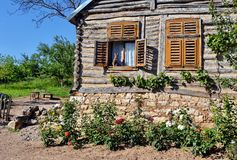 Rural wooden house Royalty Free Stock Images