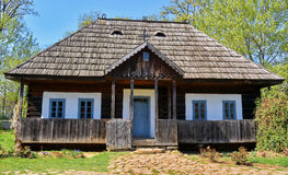 Rural wooden house stock images