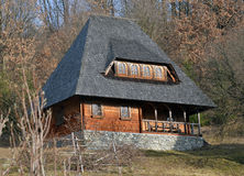 Rural wooden old house in Maramures Royalty Free Stock Photos