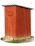 The rural wooden toilet  isolated Royalty Free Stock Photography