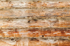 Rural wooden wall made of logs, close-up Stock Photos
