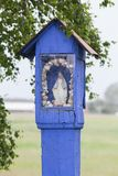 Rural wooden wayside shrine Royalty Free Stock Photos