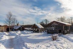Rural yard in winter Stock Images