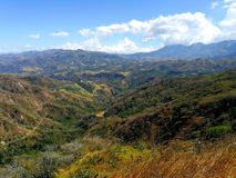 Rural zone. Mountain landscape in Costa Rica Stock Images