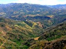 Rural zone. Mountain landscape in Costa Rica Stock Image
