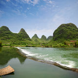 Rurality in yangshuo. Beautiful karst landform with rural scenery in yangshuo, China Royalty Free Stock Images