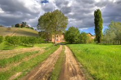 Ruras scene. Piedmont, Northern Italy. Stock Image