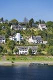 Rurberg wioska przy Jeziornym Rursee, Niemcy Zdjęcie Stock