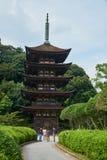 Ruriko籍寺庙,蜡烛点燃节日 库存照片