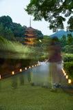 Ruriko-Ji Temple, the candle lights festival. stock image