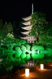 Ruriko-Ji Temple, the candle lights festival. Stock Photo