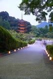 Ruriko-Jitempel, die Kerze beleuchtet Festival Stockfoto