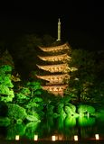 Ruriko-Jitempel, die Kerze beleuchtet Festival Lizenzfreie Stockfotografie