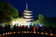 Ruriko-Jitempel, die Kerze beleuchtet Festival Stockbilder