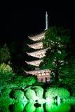 Ruriko-Jitempel, die Kerze beleuchtet Festival Lizenzfreie Stockbilder