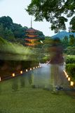 Ruriko-Jitempel, die Kerze beleuchtet Festival Stockbild