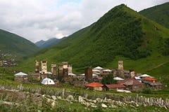 Ushguli Dorf stockfoto
