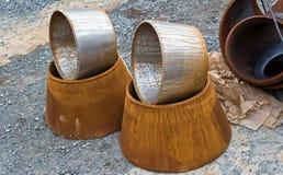 Rurociąg elementy: conical przemiany od jeden średnicy Zdjęcia Stock