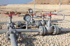 Rurociąg naftowy w Bahrajn zdjęcia royalty free
