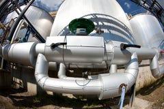 rurociąg osrebrzają zbiorniki Zdjęcie Royalty Free