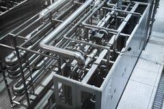 Rurociągowy system nowożytny przemysłowy Obrazy Royalty Free