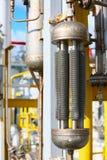 Rurociąg na ropa i gaz platformie dla produkci, Ropa i gaz procesie i kontrola automatyzacja systemem, operator kontrola produkt Obraz Royalty Free