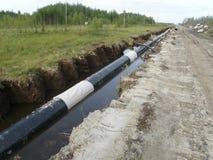Rurociąg naftowy technologia Zdjęcie Royalty Free