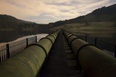 Rurociąg przez jezioro Fotografia Stock